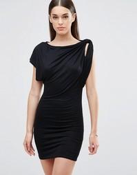 Платье с открытыми плечами TFNC - Черный