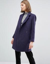 Пальто с застежкой на кнопку See U Soon - Темно-синий