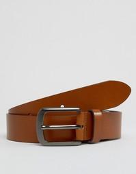 Кожаный ремень для джинсов Smith and Canova - Коричневый
