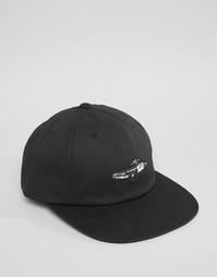 6-панельная кепка HUF X Chocolate SF Cop - Черный
