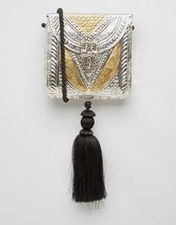 Металлическая сумка с кисточкой Park Lane - Серебряный