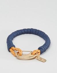 Темно-синий плетеный браслет с карабином Icon Brand - Темно-синий