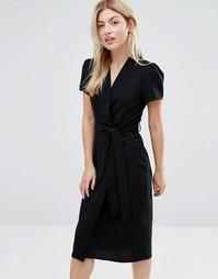Платье миди с запахом Alter - Черный