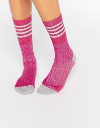 Носки с блестками Jonathan Aston - Розовый