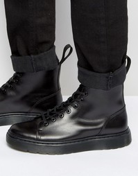 Ботинки с 8 парами люверсов Dr Martens Talib - Черный