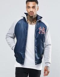 Атласная куртка с капюшоном Majestic Yankees - Черный
