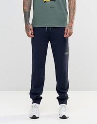 Узкие темно-синие спортивные штаны с логотипом TNF The North Face - Темно-синий