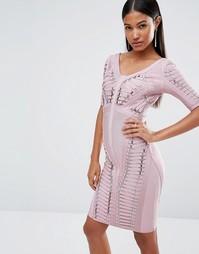 Бандажное платье WOW Couture - Розовый