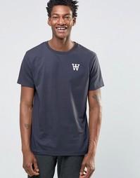 Эксклюзивная футболка с принтом Wood Wood Tomas AA Spades - Темно-синий