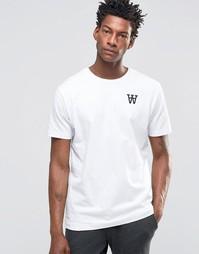 Эксклюзивная футболка с принтом Wood Wood Tomas AA Spades - Белый