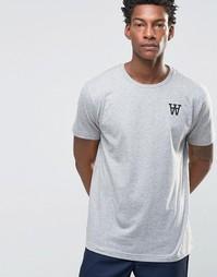 Эксклюзивная футболка с принтом Wood Wood Tomas AA Spades - Серый