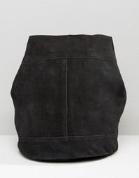 Замшевый рюкзак Pieces - Черный