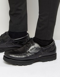 Кожаные мокасины Kickers Bosley - Черный