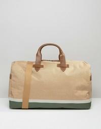 Парусиновая сумка с отделкой в кожаном стиле Racing Green - Рыжий