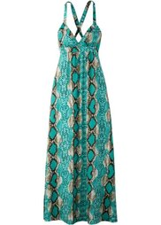 Макси-платье (змеиный рисунок/синий) Bonprix