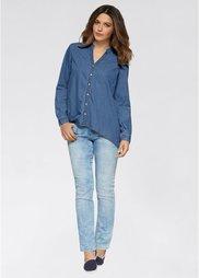 Джинсовая рубашка (голубой «потертый») Bonprix