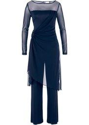 Вечерний брючный костюм (2 изделия) (черный) Bonprix