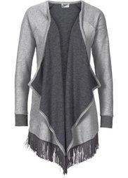Трикотажный кардиган вязаного дизайна (светло-серый меланж) Bonprix