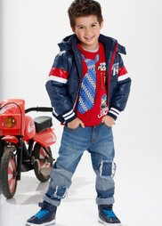 Куртка (темно-синий/темно-красный) Bonprix