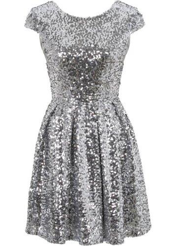 Платье с пайетками (черный)