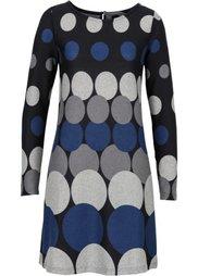 Вязаное платье с кругами (черный/коричневый/бежевый/свет) Bonprix