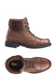 Кожаные ботинки (темно-коричневый) Bonprix