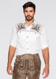 Рубашка Regular Fit  в традиционном стиле (белый) Bonprix