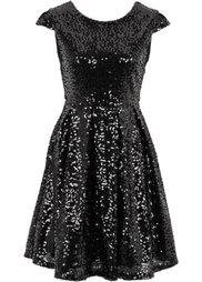 Платье с пайетками (серебристый) Bonprix