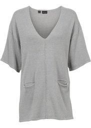 Вязаный пуловер с коротким рукавом (светло-лососевый) Bonprix