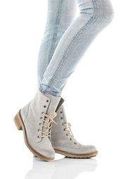 Замшевые ботинки (светло-серый) Bonprix