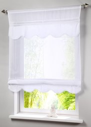 Римская штора Эльвира, кулиска (белый) Bonprix
