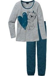Пижама (дымчато-розовый с рисунком) Bonprix