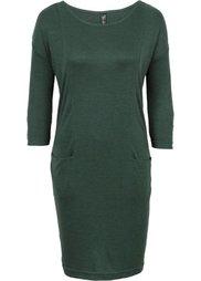 Вязаное платье (антрацитовый/черный меланж) Bonprix