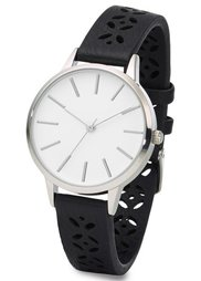 Часы на браслете с тиснением (светло-коричневый) Bonprix