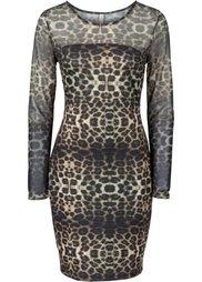 Вечернее платье (синий леопардовый) Bonprix