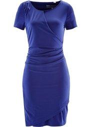 Трикотажное платье с драпировкой (черный) Bonprix
