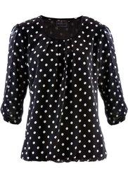 Блузка с принтом (красный/черный в горошек) Bonprix