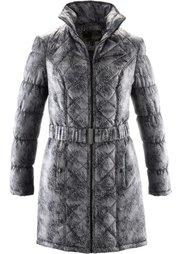 Стеганая куртка с принтом (кленово-красный с рисунком) Bonprix