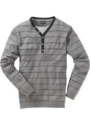 Пуловер 2 в 1 Regular Fit (темно-синий в полоску) Bonprix