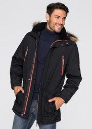 Куртка-парка Regular Fit на ватной подкладке (черный) Bonprix