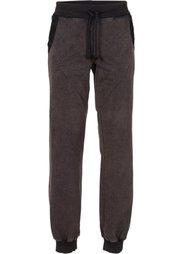 Трикотажные брюки Relaxed Fit с пайетками (серый батик) Bonprix