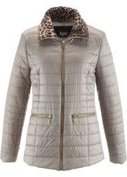 Куртка (черный/леопардовый принт) Bonprix