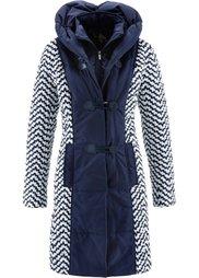 Стеганая куртка с принтом (кленово-красный/бежевая галька) Bonprix