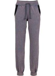 Трикотажные брюки Relaxed Fit с пайетками (черный) Bonprix