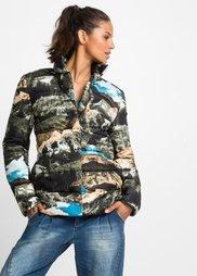 Куртка с принтом по всей поверхности (черный/синий/серый/зеленый/беж) Bonprix