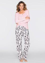 Пижама (нежно-розовый/кремовый с принт) Bonprix