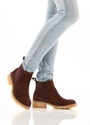 Замшевые ботинки-челси (темно-коричневый) Bonprix