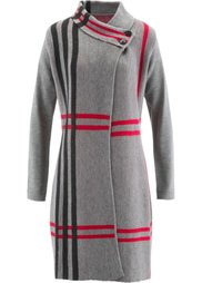 Вязаное пальто (натуральный камень в клетку) Bonprix