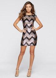 Платье (черный/золотистый/серебристый) Bonprix