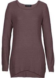 Ажурный пуловер (черный) Bonprix